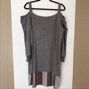 THML Size 2X Waffle Knit Off The Shoulder Dress